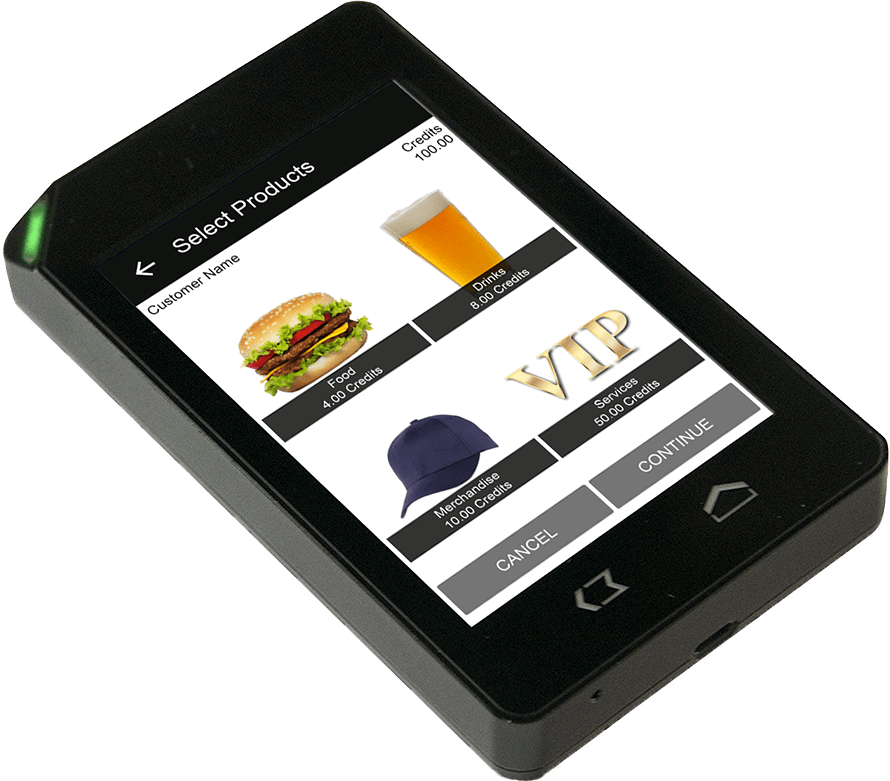 Products and merchandise listed in the Nutickets cashless payment system